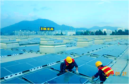 Συνεργασία με εταιρεία IKEA για παραγωγή ηλεκτρικής ενέργειας μέσω ηλιακής στις στέγες των κτιρίων